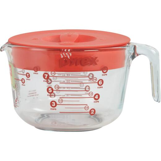 Pyrex Prepware 8 Cup Clear Glass Measuring Cup with Lid