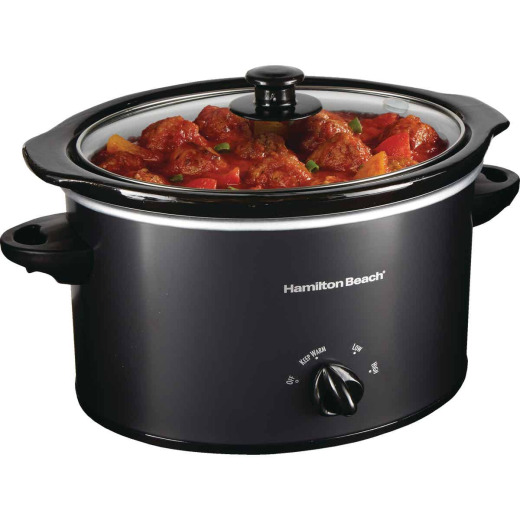 Hamilton Beach 3 Qt. Black Slow Cooker