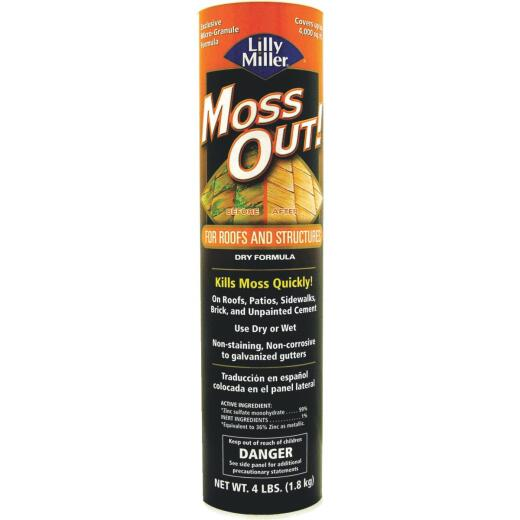 Lilly Miller MOSS OUT! 4 Lb. Ready To Use Granules Moss & Algae Killer