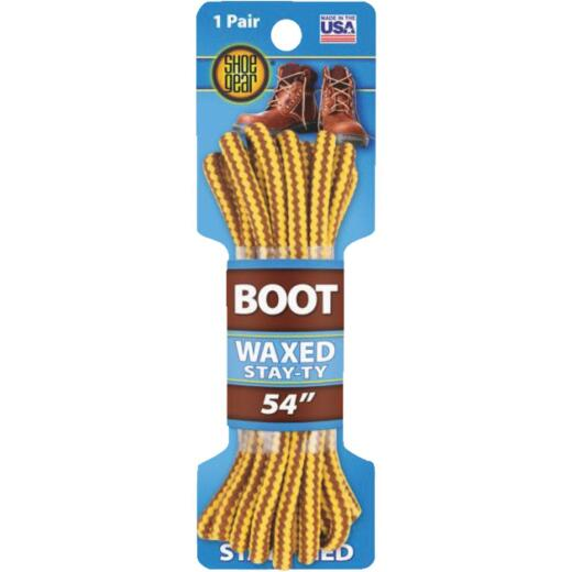 Shoe Gear Waxed 54 In. Round Boot Laces