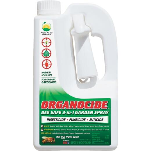 Organocide 72 Oz. Ready To Use Trigger Spray Organic Bee Safe 3-In-1 Garden Insect Killer