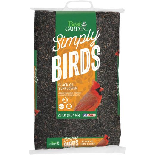 Best Garden 20 Lb. Black Oil Sunflower Wild Bird Seed