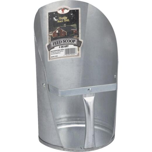 Little Giant 4 Qt. Galvanized Steel Feed & Seed Scoop
