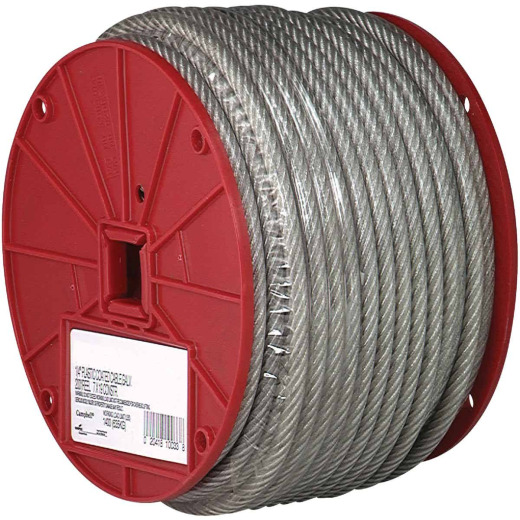 Campbell 1/8 In. x 250 Ft. Vinyl-Coated Galvanized Clothesline Cable