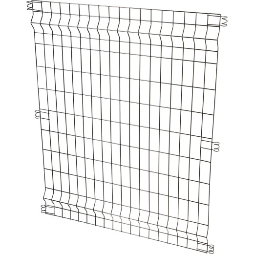 Best Garden 36 In. W. x 44 In. H. Black Powder-Coated Steel Multi Purpose Fence Panel