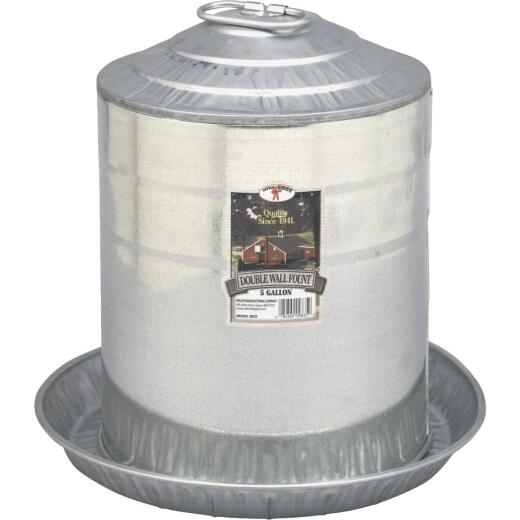 Little Giant 5 Gal. Galvanized Steel Poultry Fountain