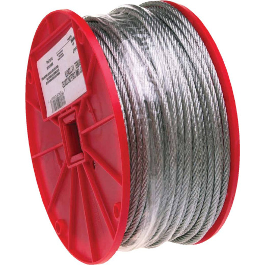 Campbell 3/32 In. x 500 Ft. Galvanized Wire Cable