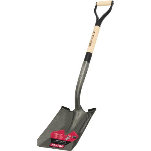 Truper Tru Pro 30 In. Wood D-Handle Square Point Shovel
