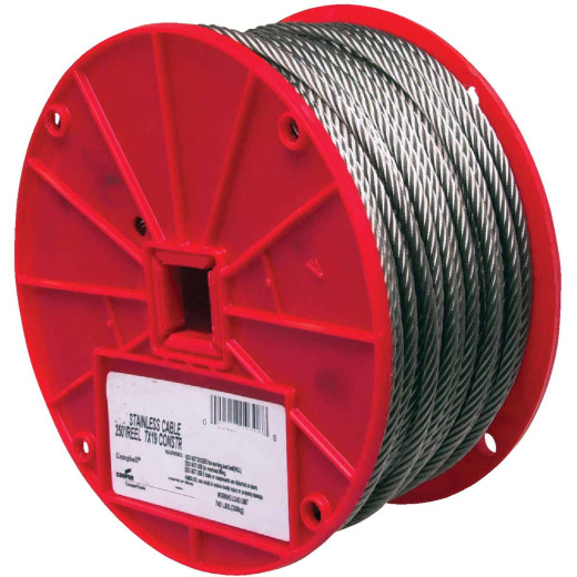 Campbell 1/8 In. x 250 Ft. Stainless Steel Wire Cable