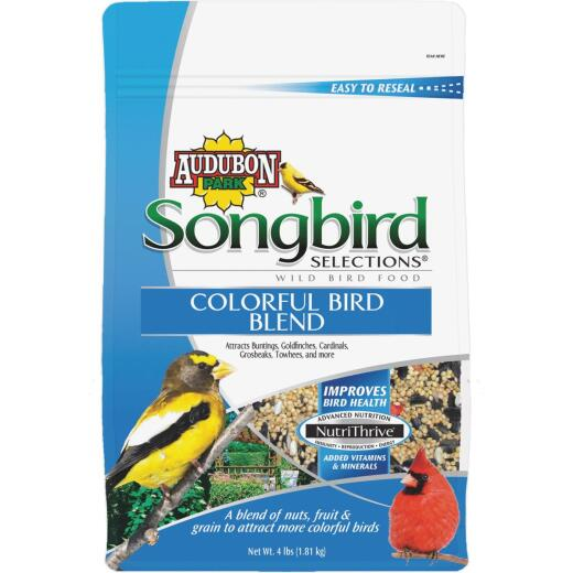 Audubon Park Songbird Selections 4 Lb. Colorful Wild Bird Seed