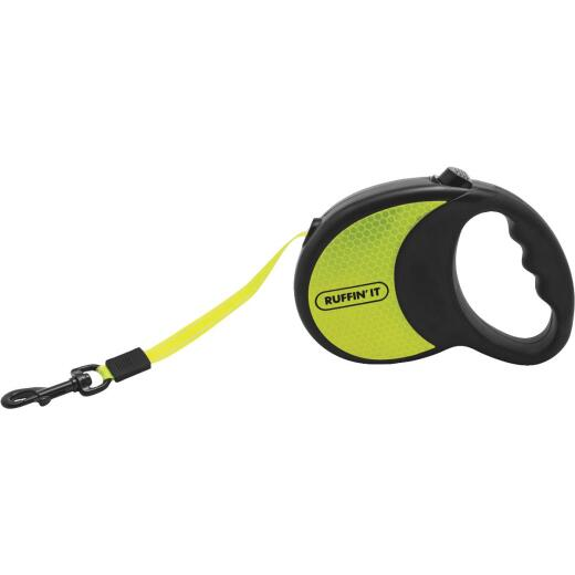 Westminster Pet Ruffin' it Up to 50 Lb. 10 Ft. Webbed Reflective Neon Yellow Retractable Leash