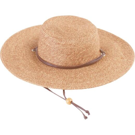 Sloggers Women's Dark Brown Straw Sun Hat