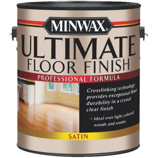 Minwax ULTIMATE 1 Gallon Satin Water-Based Polyurethane Floor Finish
