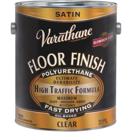 Varathane Premium Oil-Based Clear Satin Floor Finish, Gallon