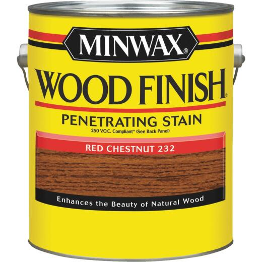 Minwax Wood Finish VOC Penetrating Stain, Red Chestnut, 1 Gal.