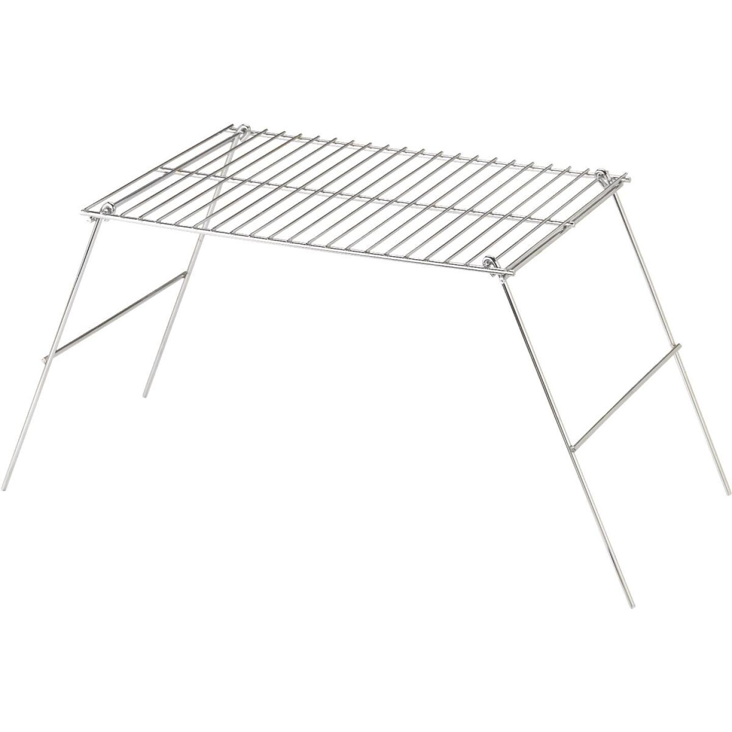 Rome Industries 10-1/2 In. W. x 12 In. H. x 17 In. L. Chrome-Plated Metal Camp Grill with Legs Image 1