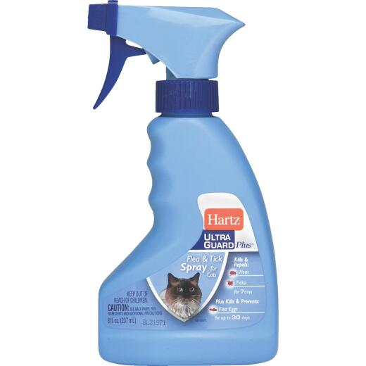 Hartz UltraGuard Plus 30-Day 8 Oz. Flea & Tick Treatment Spray For Cats