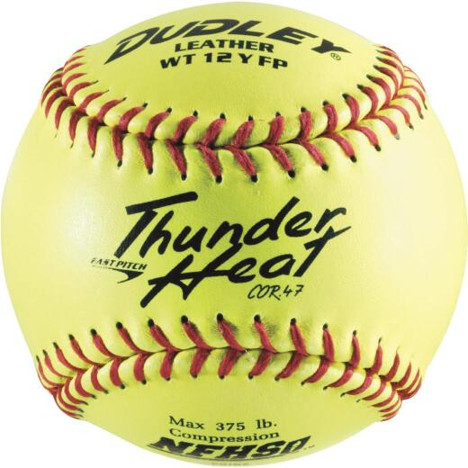Spalding 12 In. Yellow Red Softball