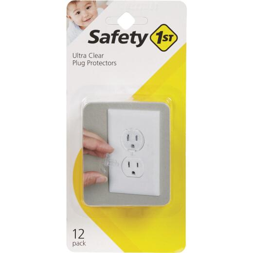 Safety 1st Ultra Clear Outlet Plugs (12-Pack)