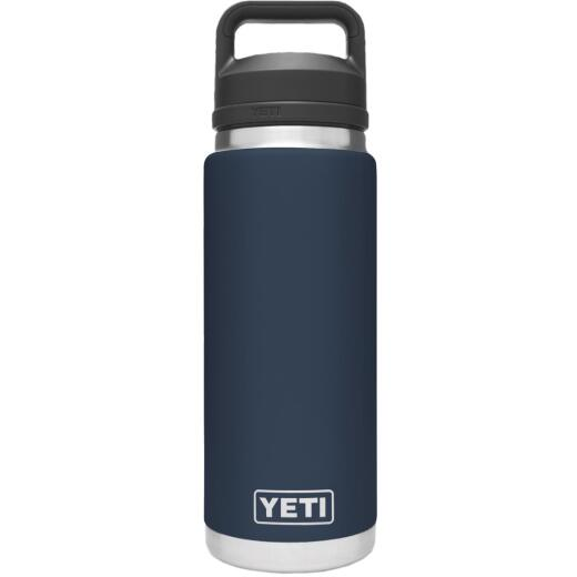 Yeti Rambler 26 Oz. Navy Stainless Steel Insulated Vacuum Bottle with Chug Cap
