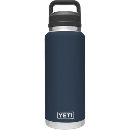 Yeti Rambler 36 Oz. Navy Stainless Steel Insulated Vacuum Bottle with Chug Cap