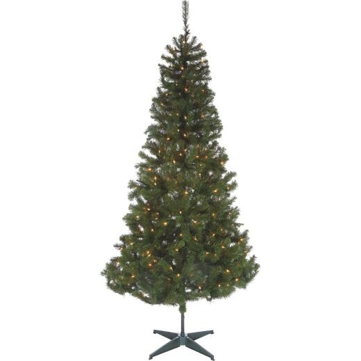Sterling 7 Ft. Cumberland 300-Bulb Clear Incandescent Prelit Artificial Christmas Tree