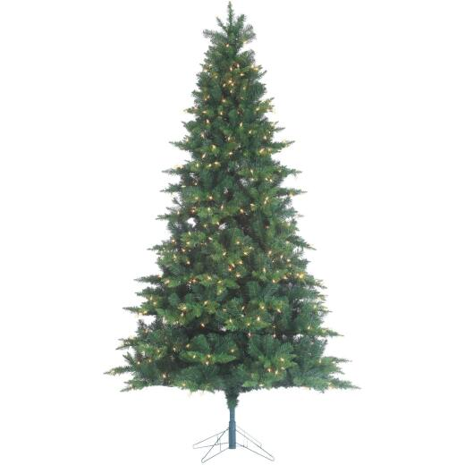 Gerson 7.5 Ft. Longwood Pine 600-Bulb Clear Incandescent Prelit Artificial Christmas Tree