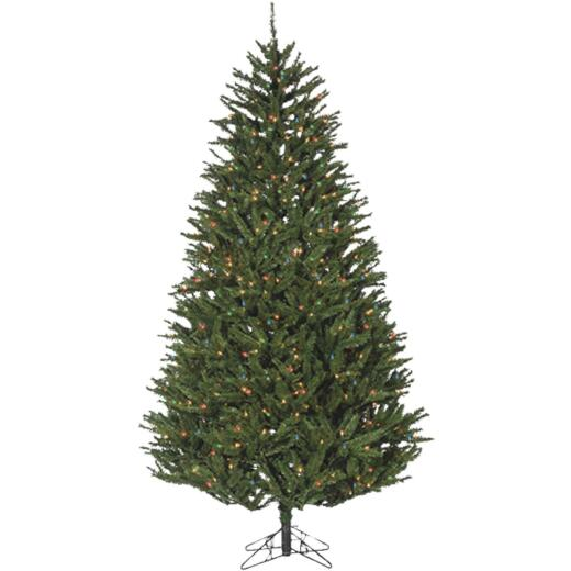Sterling 7.5 Ft. New England Pine 800-Bulb Multi Incandescent Prelit Artificial Christmas Tree