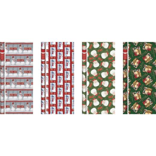 Paper Images Traditional 40 In. Christmas Gift Wrapping Paper