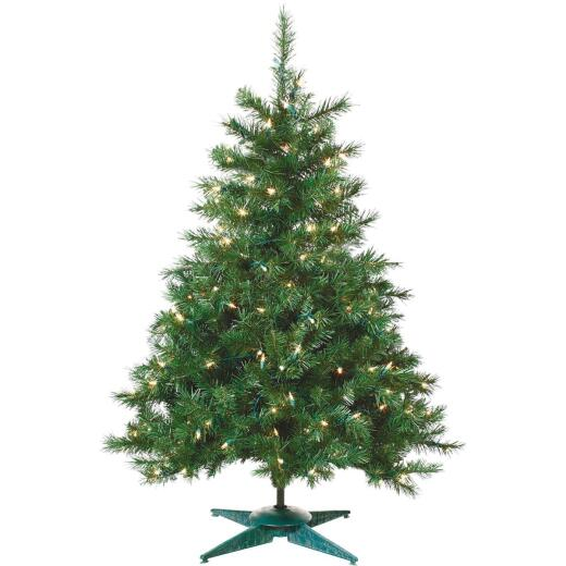 Sterling 2 Ft. Colorado Spruce 50-Bulb Clear Incandescent Prelit Artificial Christmas Tree