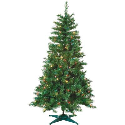 Sterling 3 Ft. Colorado Spruce 100-Bulb Multi Incandescent Prelit Artificial Christmas Tree