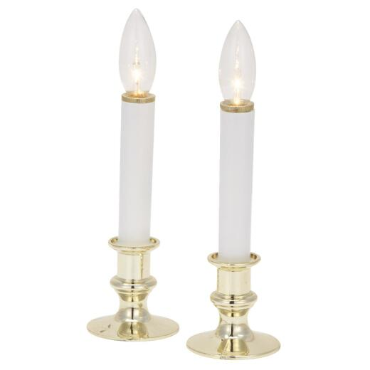 J Hofert 8.5 In. H. x 2.5 In. Dia. Gold Battery Operated Candle (2-Piece)