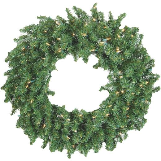 Gerson 36 In. 150-Bulb Clear Incandescent Canadian Pine Prelit Wreath